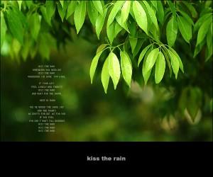 Kiss the Rain(雨的印记) – 李闰珉(Yiruma)