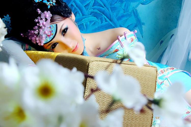 【人物】古典美女 蓝色妖姬