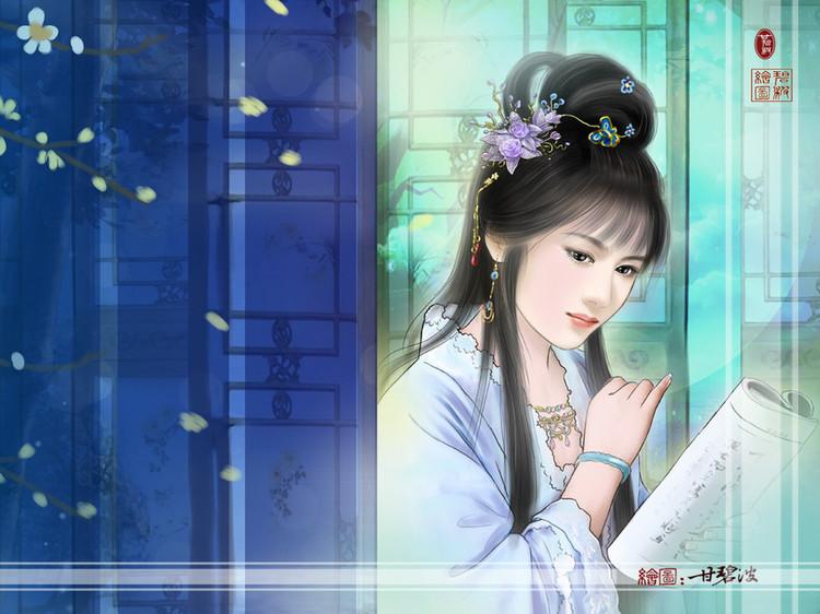 【人物】甘碧波手绘古典美女