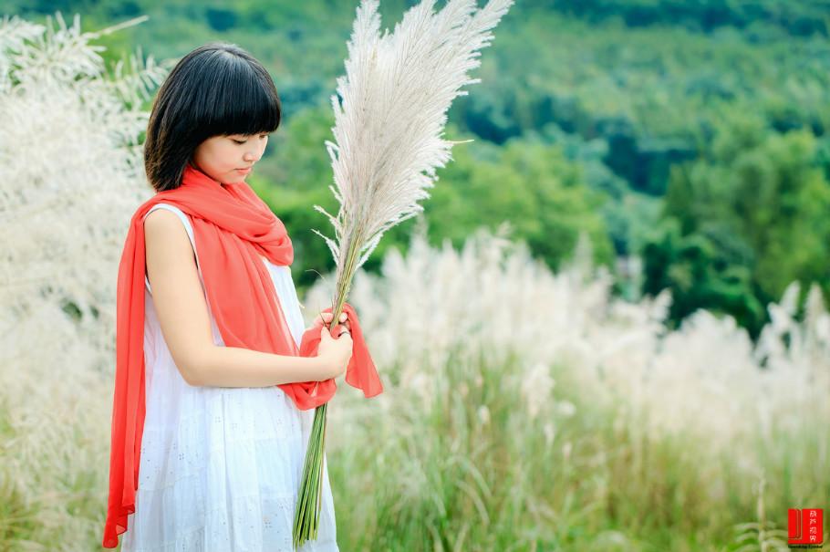 【人物】秋季美女素材《苇花情深》