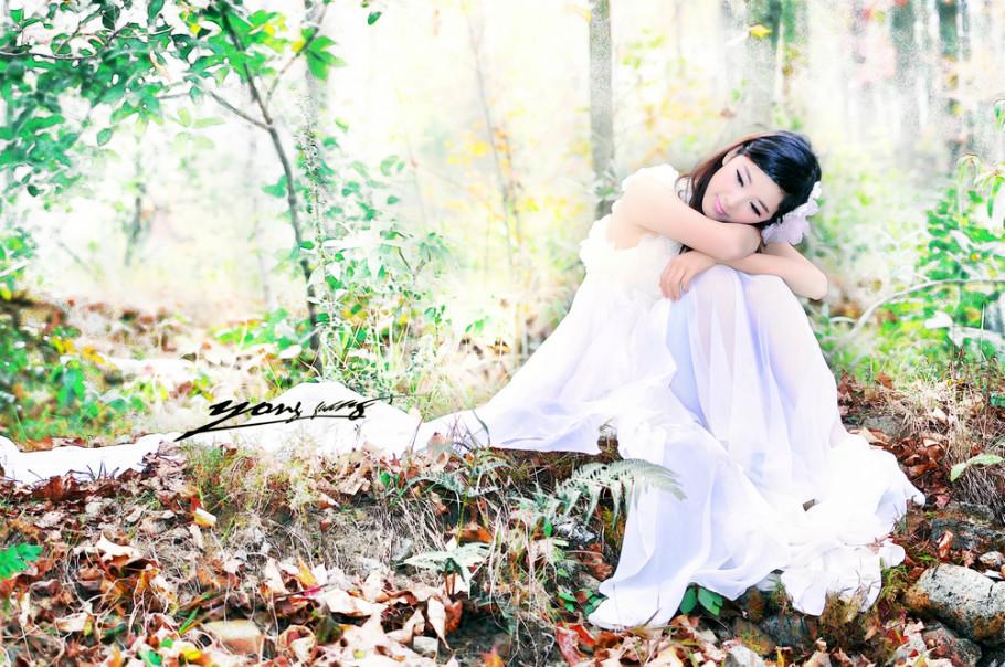 【人物】秋季美女素材《叶的思念》