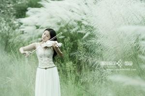 【人物】芦苇小提琴美女素材《又想起你》